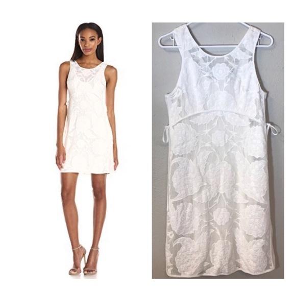 Yoana Baraschi White Medina Floral Lace Dress